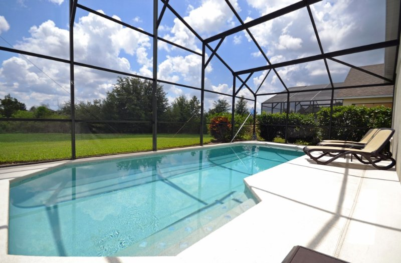 Pool area overlooking nature reserve