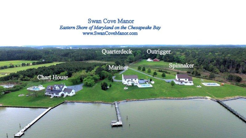 Swan Cove Manor -Weddings / riunioni di famiglia - 22 ac. Chesapeake Waterfront Estate - Posti letto 48+