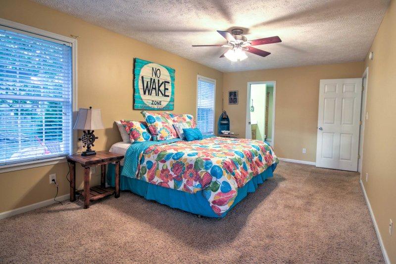 Every bedroom offers comfortable sleeping arrangements.