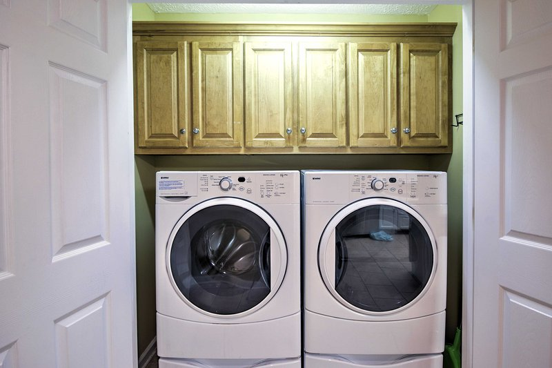 This home is equipped with in-unit laundry machines for your convenience.