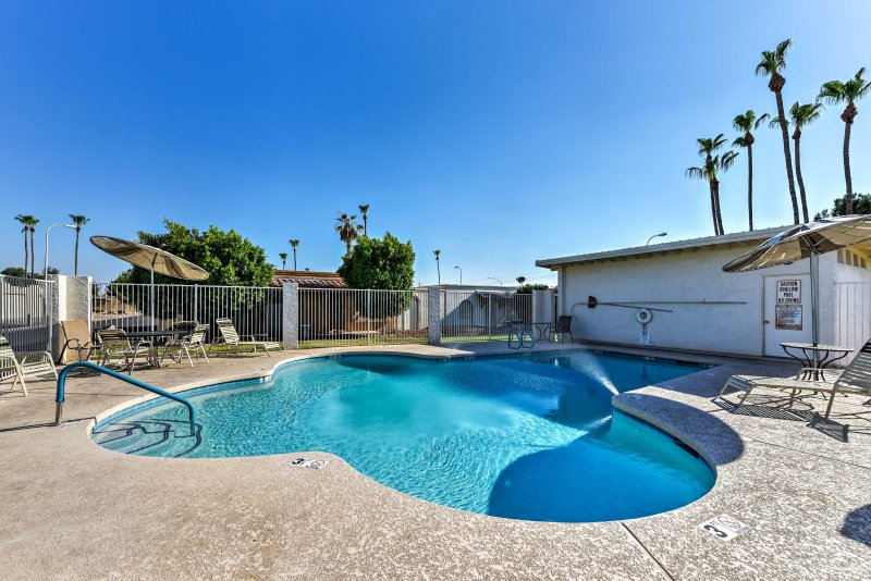 Take a dip in the community pool or simply relax on the patio!