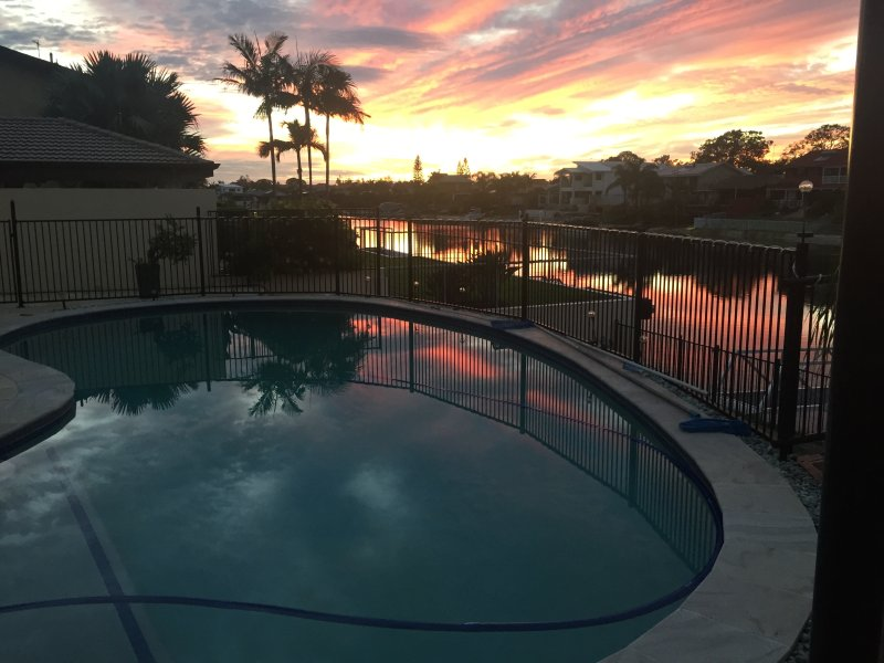 Sunrise at mermaid water front holiday house, holiday rental in Gold Coast