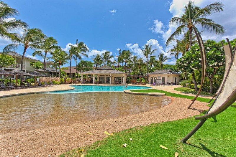 Bassin de sable à la plantation de noix de coco