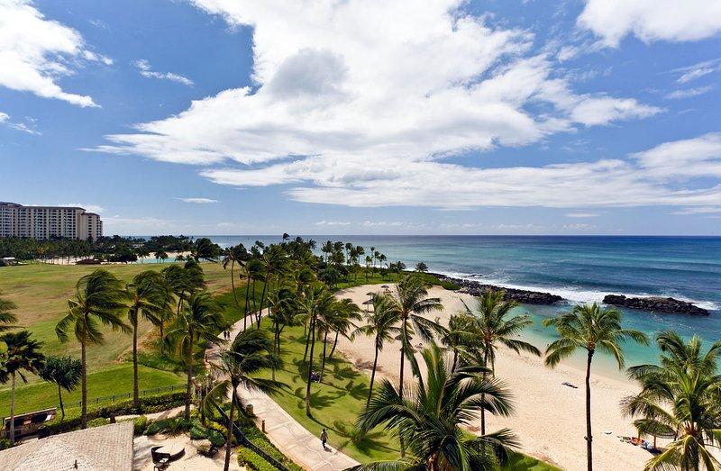 Su vista mirando hacia el este hacia Honolulu