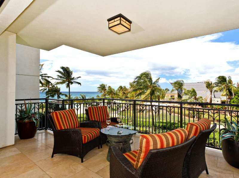 Watch the sunset over the Pacific blue from the comfort of your fully furnished, spacious lanai