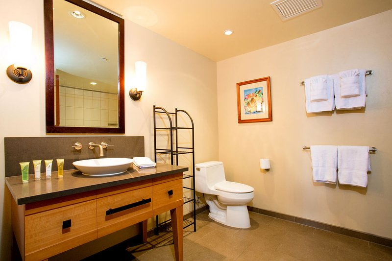 Here's a Photo of the Second Full Bathroom. Unfortunately, the photo does not show the large soaking tub and shower combination
