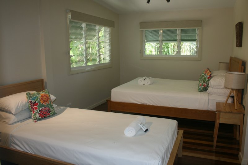 Bedroom 2: Queen Bed and King Single Bed sleeps 3