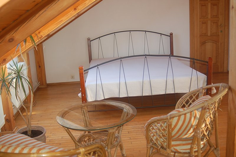 Bed in common area