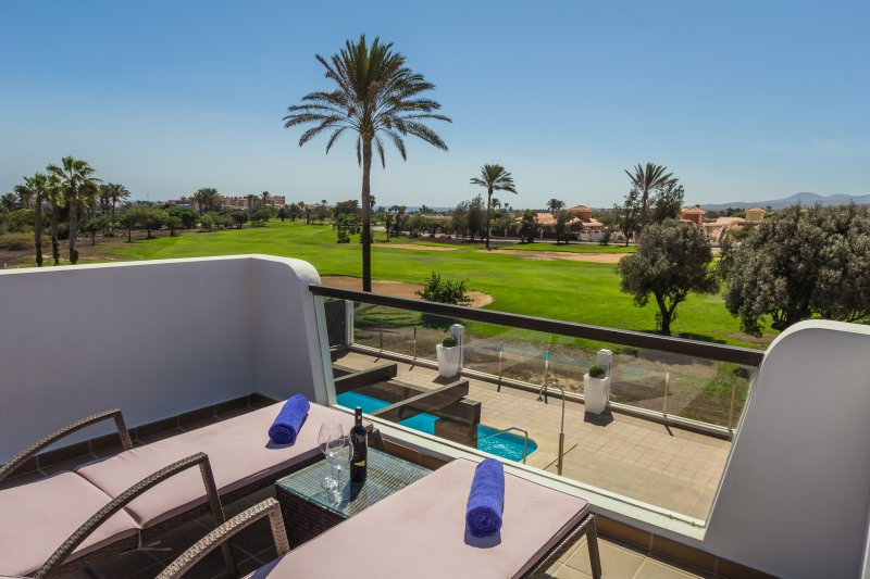 NEW Frontline Villa situated on the impressive Fuerteventura Golf Course, holiday rental in Caleta de Fuste