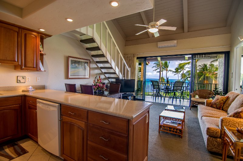 Even the kitchen has an ocean view!
