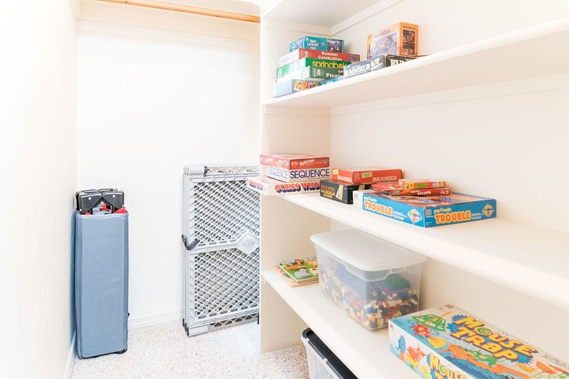 Complete with games, pack-n-play and amenities for the kids
