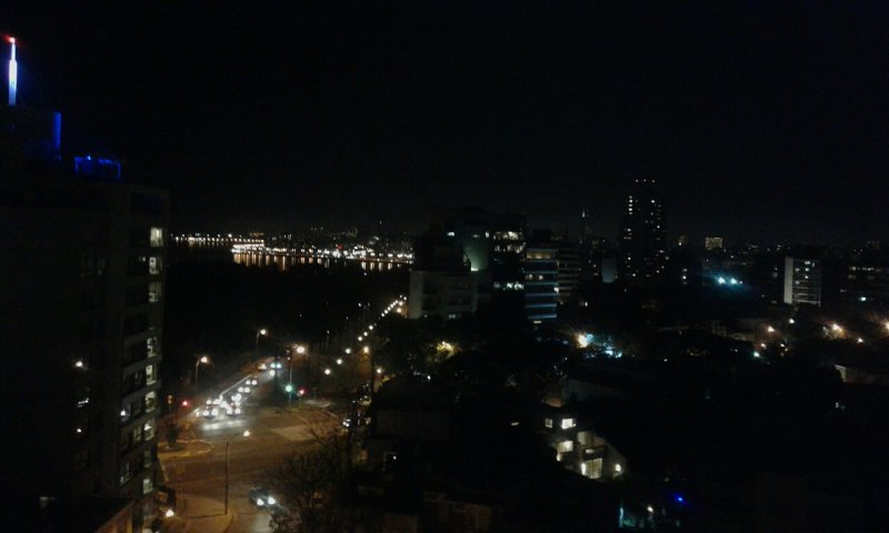 night view from the apartment and terrace