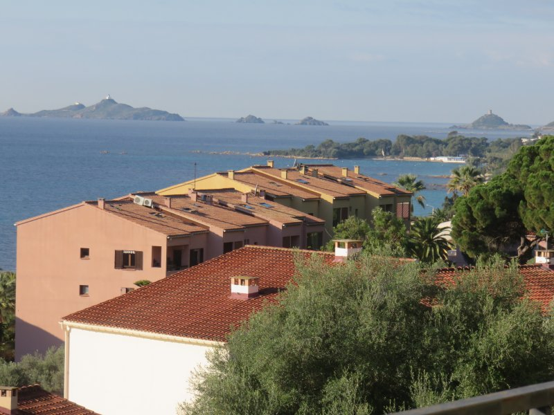 View from the terrace: west side view of the islands Sanguinaires