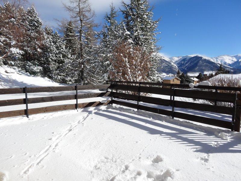 terrasse enneigée