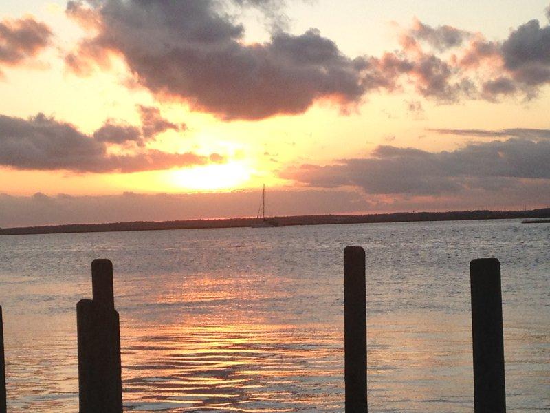 Splendido tramonto di caduta dal nostro molo