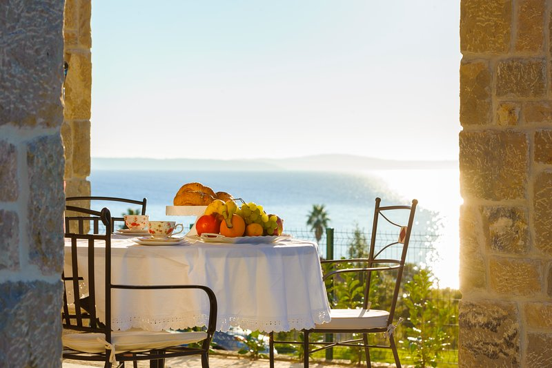 Enchanting sea view stretches up to the islands of Brač and Šolta