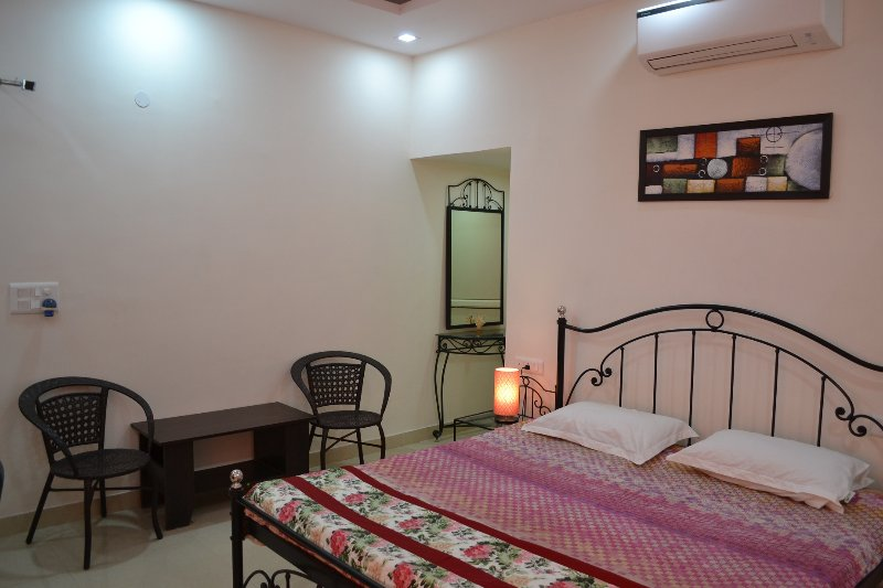 Villa Green - Bedroom 1, with shared kitchen, living room & terrace, vacation rental in Janakpuri