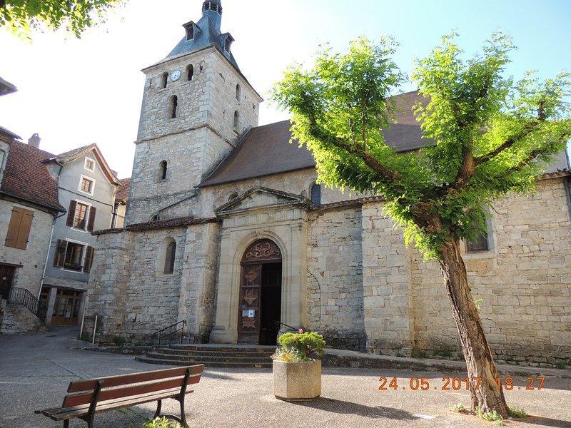 Place de l'église Cajarc
