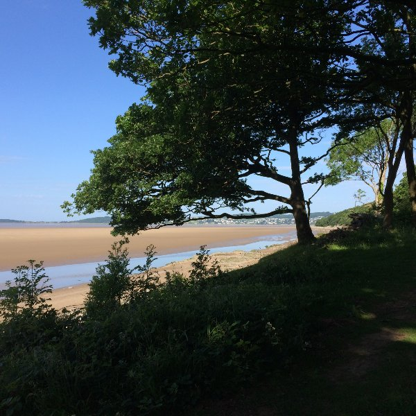 View from the woodland walk to Far Arnside.