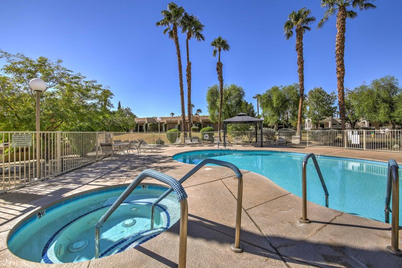 Escape to the Palm Springs Area and stay at this vacation rental condo!