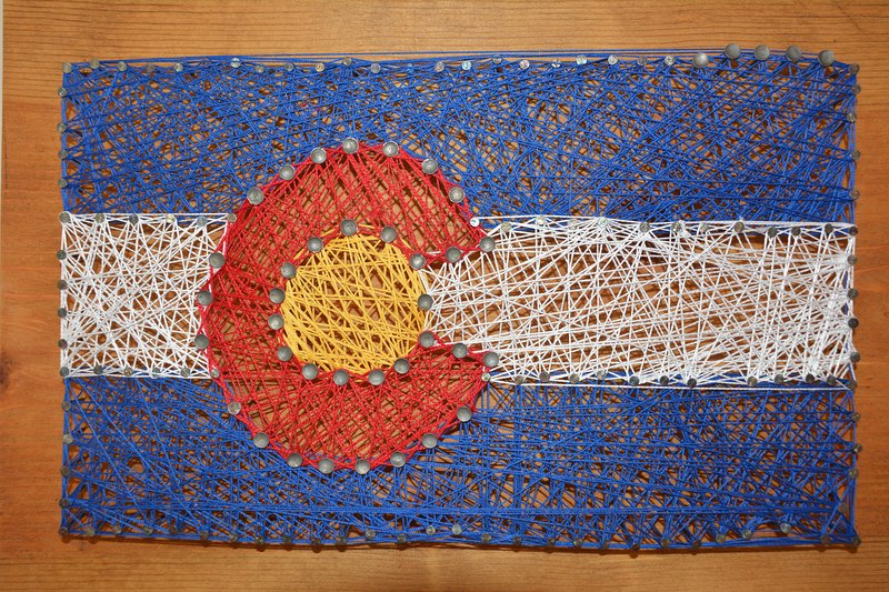 Hand crafted Colorado flag