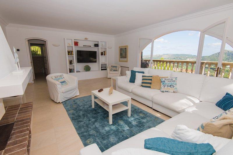 sala de estar y terraza superior
