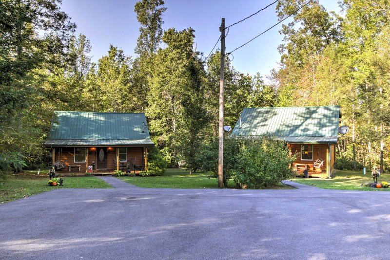 There is a second cabin on the property available to rent.