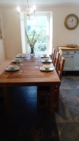 Large solid country house style table, ideal for large get togethers.
