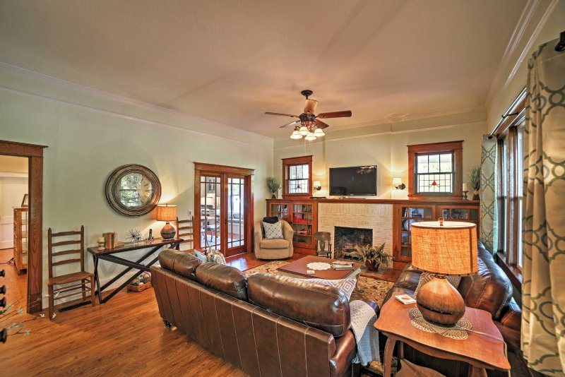 The 4-bed, 4.5-bath vacation rental home that accommodates 12 guests.