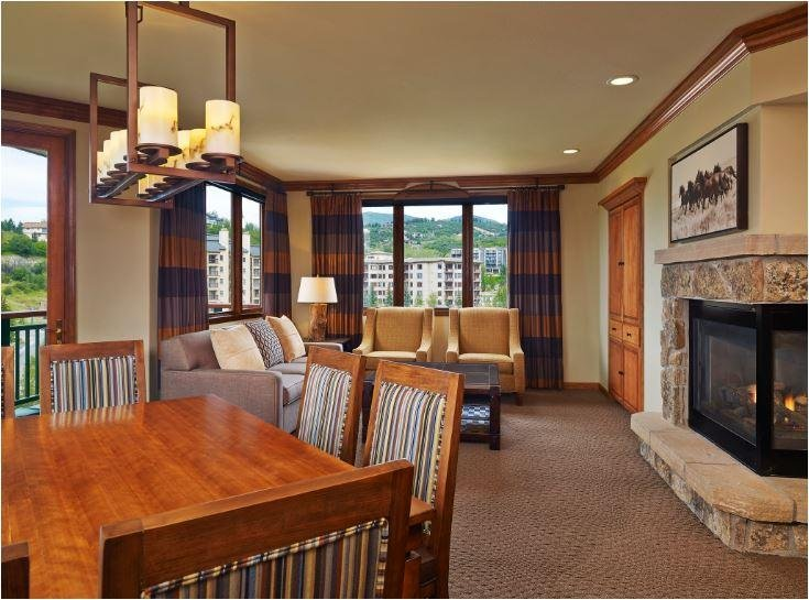 Sheraton Steamboat Two Bedroom Premium Condo Living and Dining Area