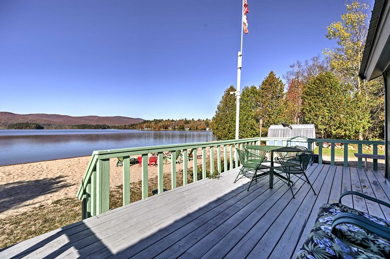 Relish in the natural beauty of Island Pond when you stay at this beachfront vacation rental cottage!