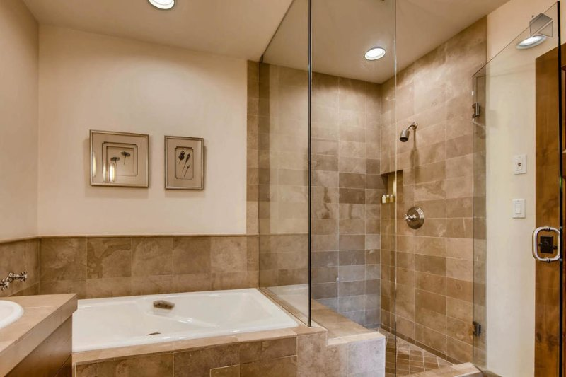 Enjoy the Master Bedroom's ensuite bathroom, with a standup shower and relaxing tub.