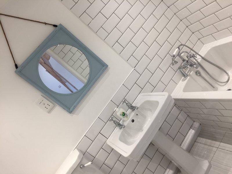 família casa de banho