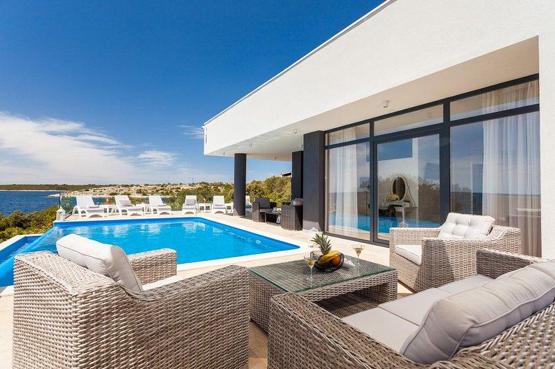 front de mer moderne villa de luxe à louer, Korcula