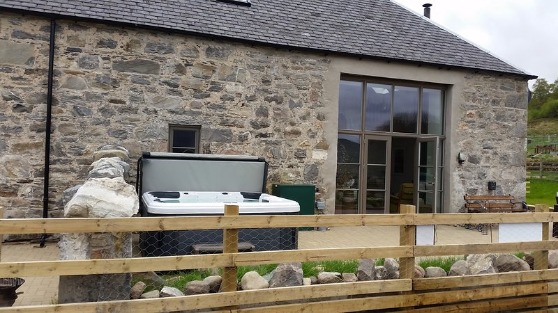 Bespoke gable window opening to patio