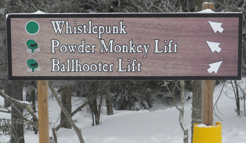 You're connected to the entire trail system from Whistlepunk.