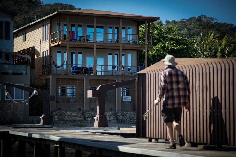 Beach Suite first floor view of beach and our dock