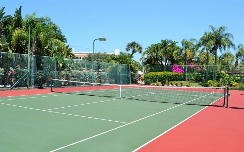 One of Two Private Tennis Courts