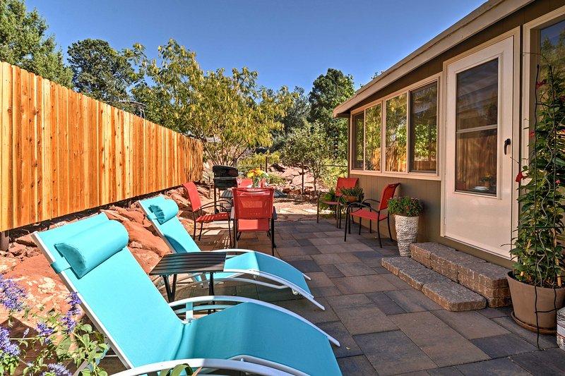 Red Rock País aguarda a esta 2-cama, 2-banho casa de aluguer de férias em Sedona!