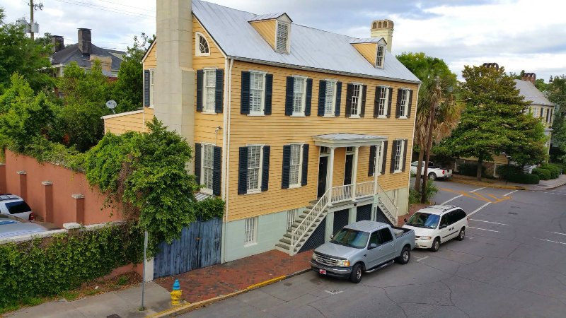 The Live Oaks House from 1806, an original Twin Townhouse saved by the 'Beehive Society' of Savannah