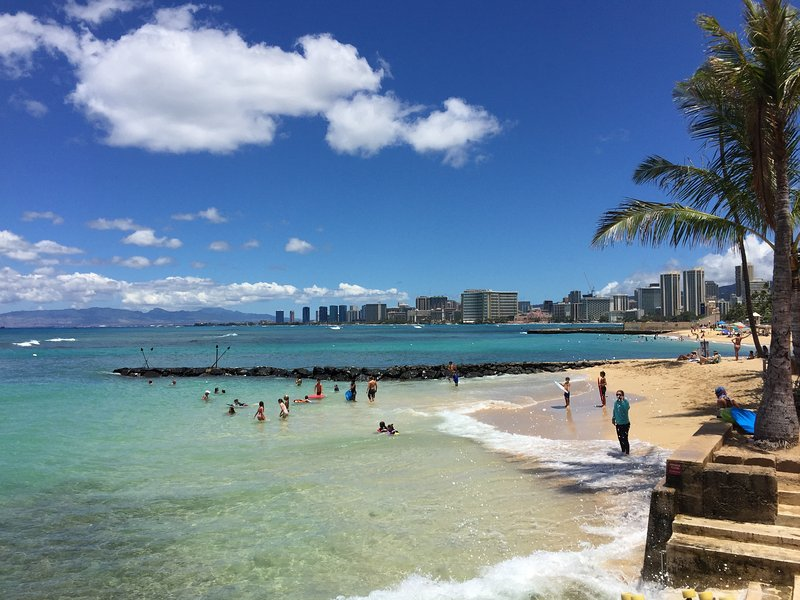 Elks Club and Kaimana Beach just a short walk from the estate