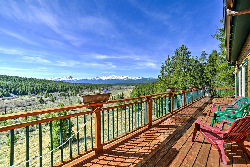 Discover a remarkable mountain retreat at this 5-bedroom, 4-bathroom Leadville vacation rental house.