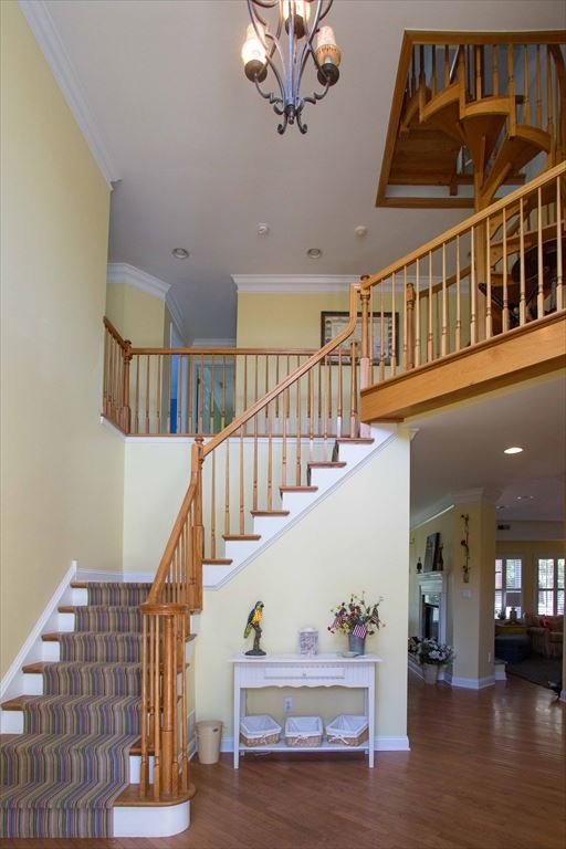 Foyer with view of stairs to third floor