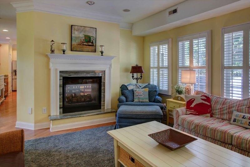 Family room with view of fireplace