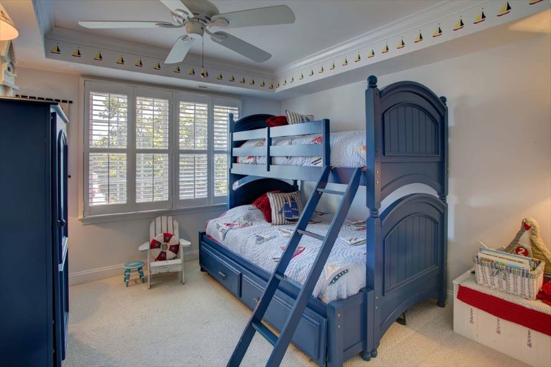 Second floor bunk room double and twin