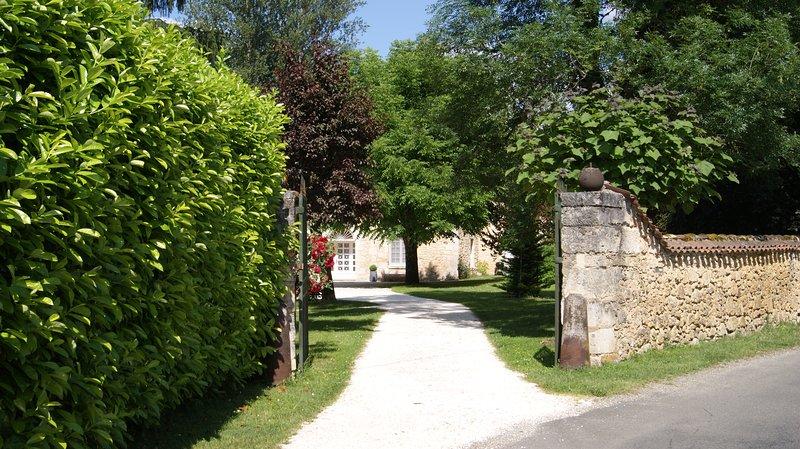 La zona de entrada de la fragua en Clermont-de-Beauregard