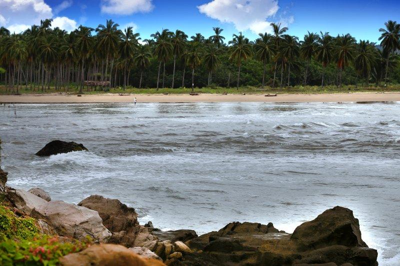 Vista de la playa privada en Playa Las Tortugas - para su disfrute!
