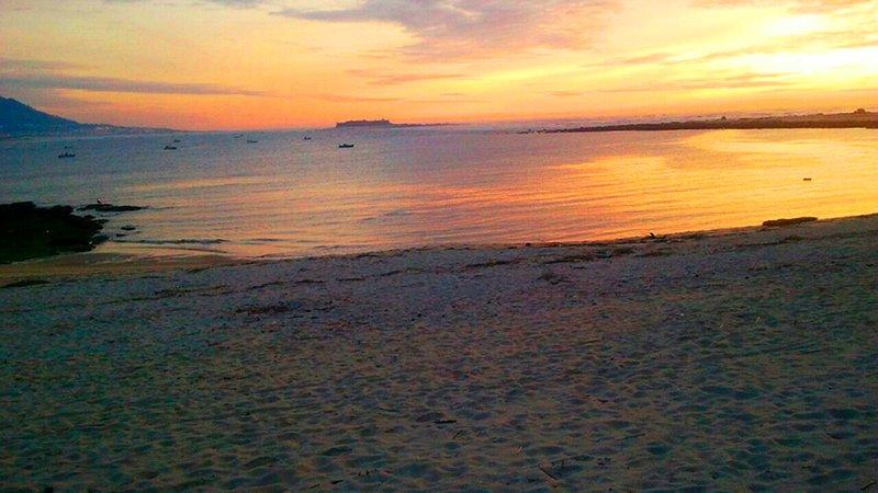 Puesta de sol Playa O Muiño