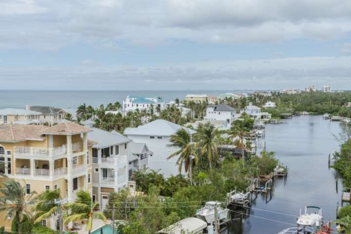 Stunning waterfront homes on the Gulf and canal, just outside your lanai patio.