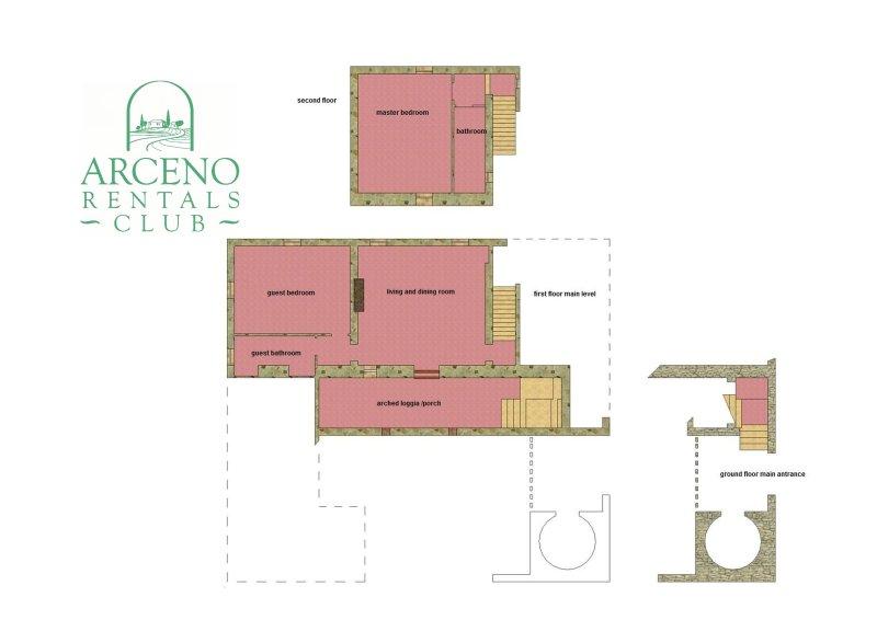 'Arco al Poggio' Arceno Location du Club Floor Plan
